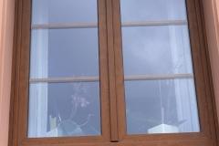 Fenster foliert mit Sprossen im LZR